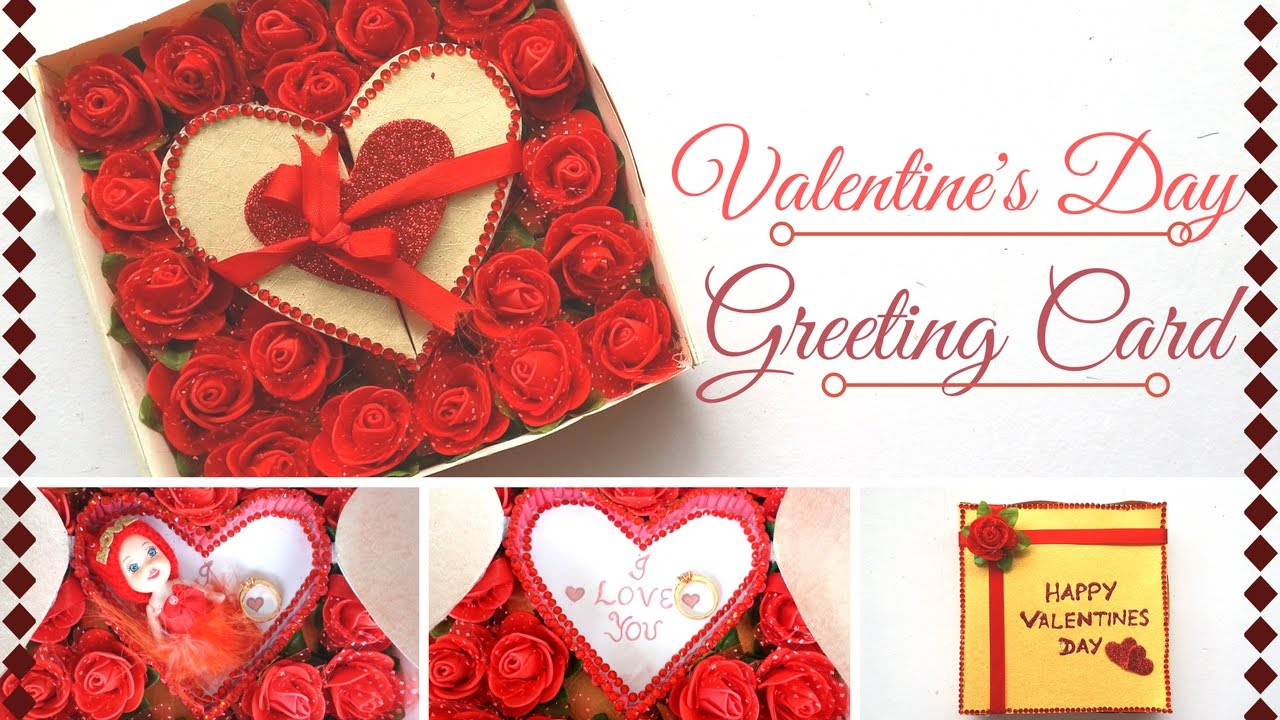 DIY Valentines Day Greeting Card Design Making Ideas For Your – Greeting Cards of Valentine Day