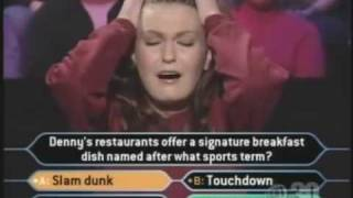 Who Wants to be a Millionaire. Harvard Chick royally fails!