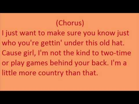 Easton Corbin A Little More Country Than That Lyrics Video.wmv