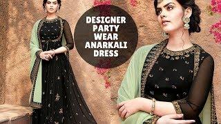 Party Wear Anarkali Dress - La…