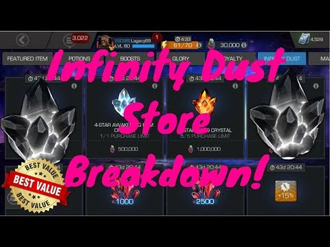 Infinity Dust Store Value Breakdown! Best Things To Buy! - Marvel Contest Of Champions