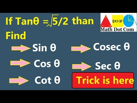 How To Find Value Of All Trigonometric Ratios If One Is Given   Math Dot Com