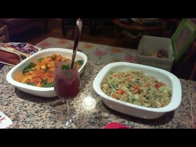 Recipe Club - Pumpkin, Spinach & Tofu Curry / Curried Cabbage Stir-fry / Boysenberry Nice-Cream