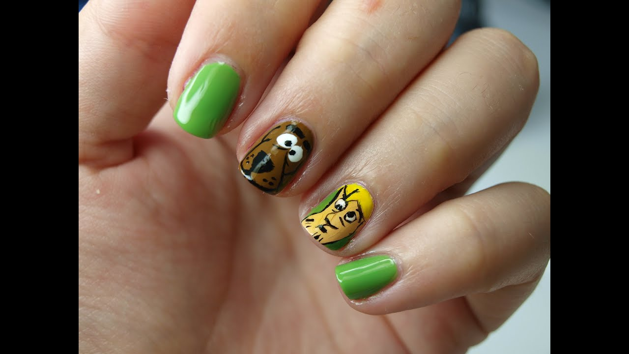 Nail art scooby doo youtube prinsesfo Image collections