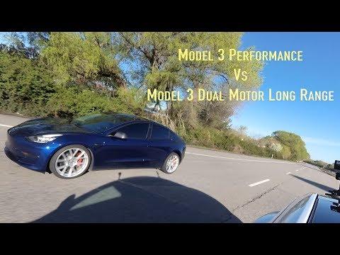 Model 3 Performance vs Model 3 Dual Motor Long Range