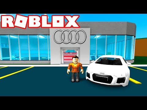 CREATING A CAR DEALERSHIP in ROBLOX! *SELL SUPER CARS!*