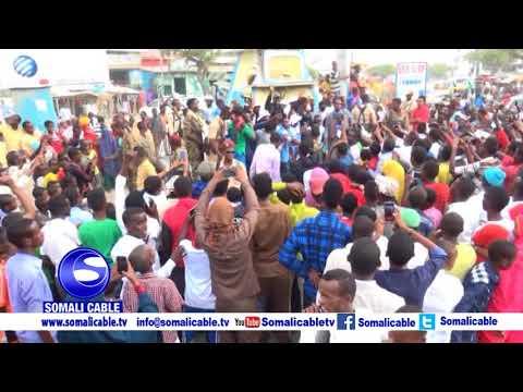 Magalada Kismayo ayaa waxa si wayn loogu soo dhaweeyey Ciyaartoyda Xulka Jubaland ee Dhawaan ku Guul
