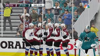 NHL 19 - Colorado Avalanche Vs San Jose Sharks Gameplay - Stanley Cup Playoffs Game 7 May 8, 2019