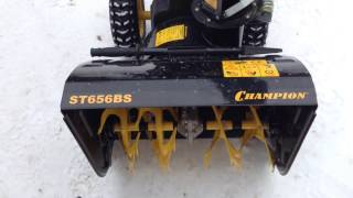 Обзор Снегоуборщик Champion ST656BS  Snow thrower.