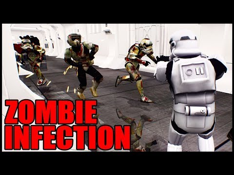 Trapped In A Ship With ZOMBIE STORMTROOPERS - Star Wars Battlefront 2 Death Trooper Zombie Infection