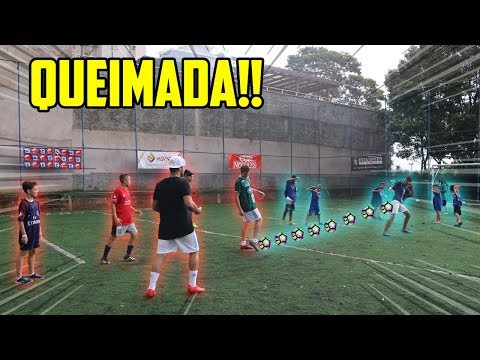 BOLA QUEIMADA NO FUTEBOL!! - CHUTE E QUEIME ALGUÉM ( deu ruim?! )