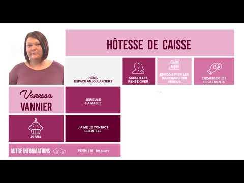 CvVidéo - Hôtesse de caisse à Angers