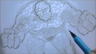 How To Draw The Thing (Fantastic 4)