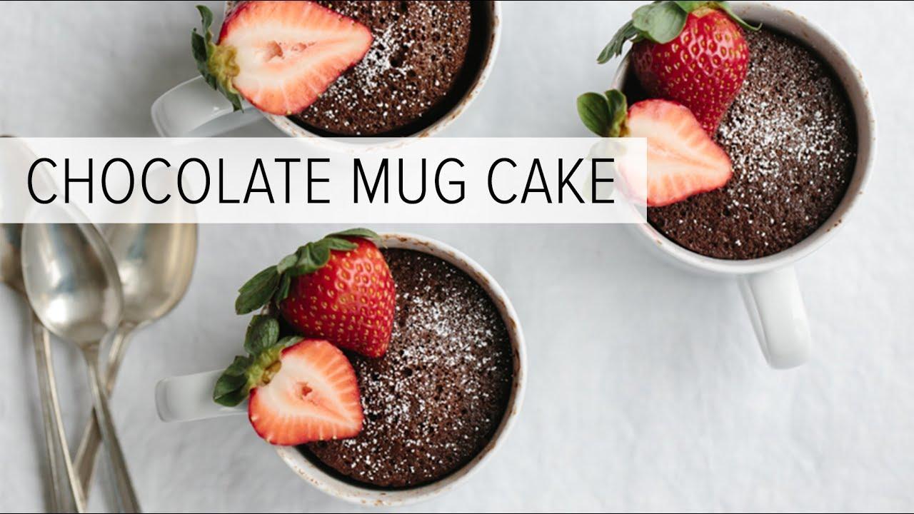 Chocolate Mug Cake (gluten-free, paleo)