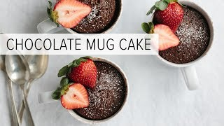 CHOCOLATE MUG CAKE | gluten-free, dairy-free and paleo