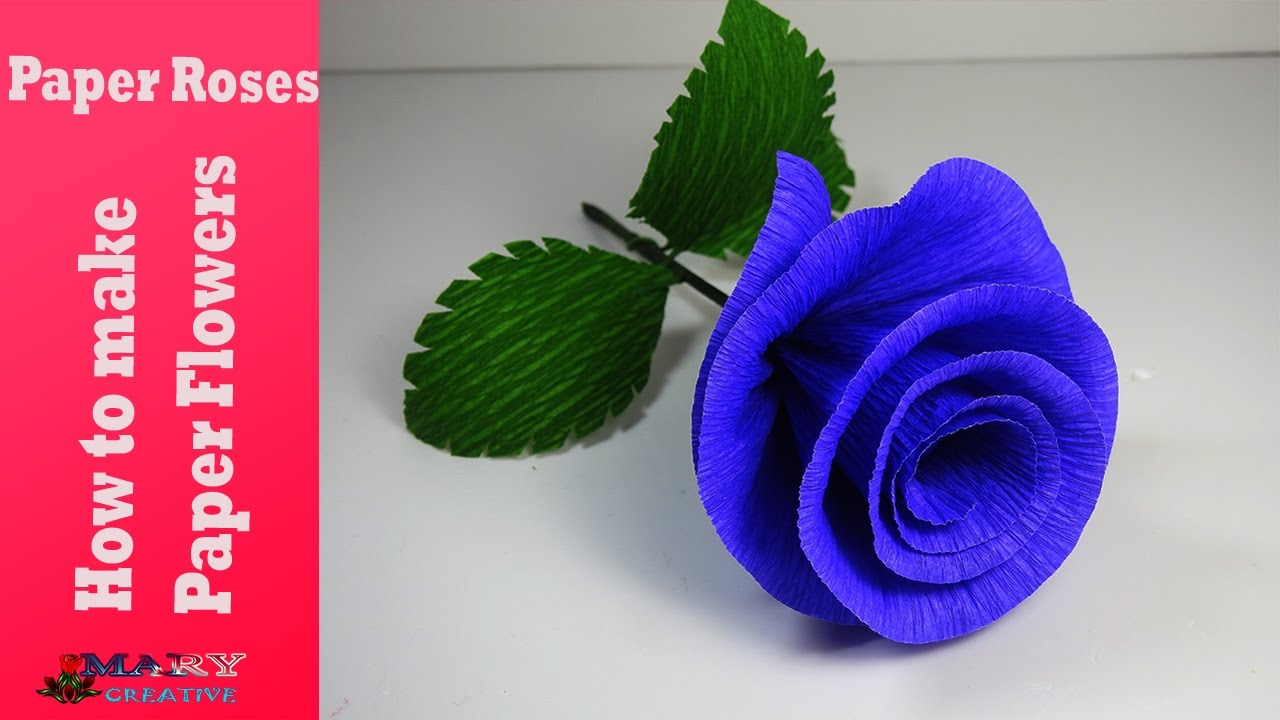 How To Make Paper Flowers Paper Roses Paper Flower Tutorial