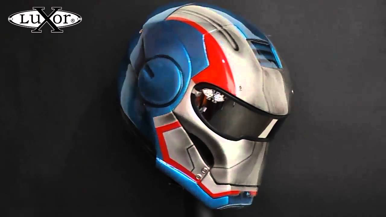 casco iron man para motociclistas lx 305 iron man helmet motorcycle cascos luxor youtube. Black Bedroom Furniture Sets. Home Design Ideas
