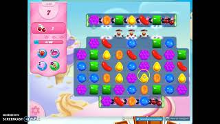 Candy Crush Level 1400 Audio Talkthrough, 1 Star 0 Boosters