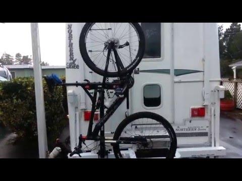 Installing a Bike Rack on the Truck Camper - YouTube