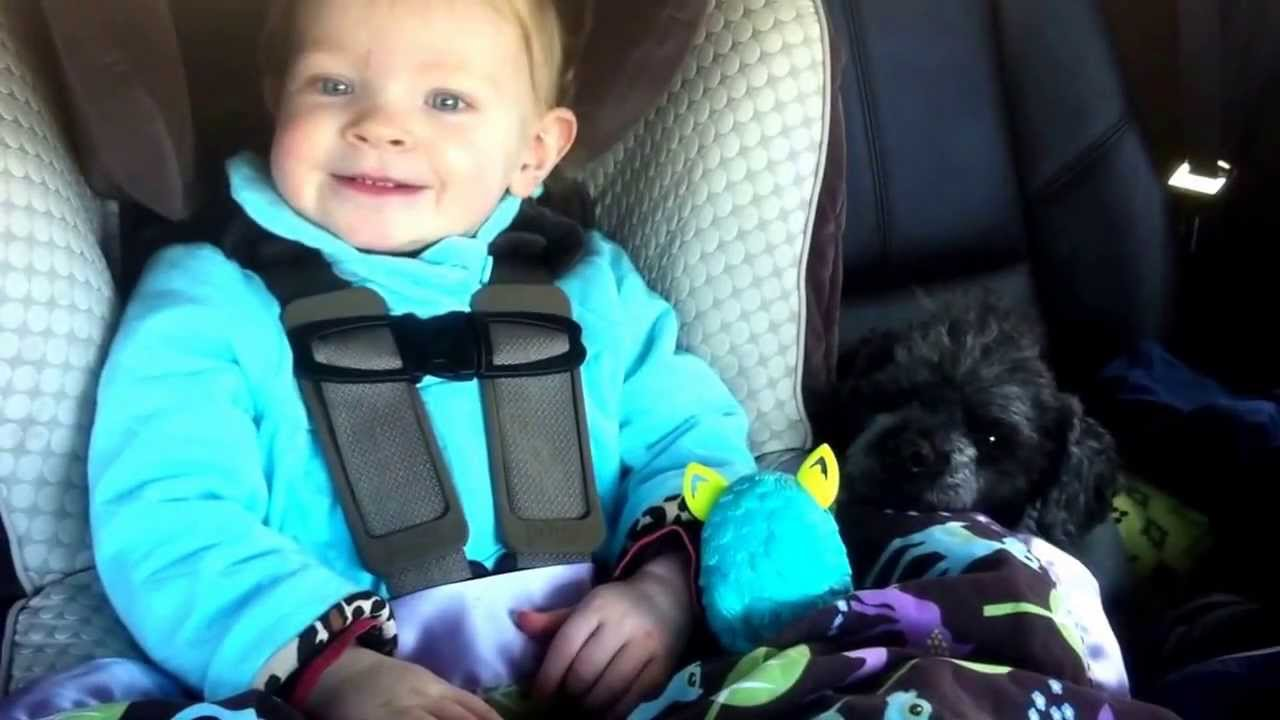 cute 16 month old baby makes animal sounds 1 10 in car seat youtube. Black Bedroom Furniture Sets. Home Design Ideas