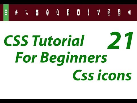 CSS Icons | Css Tutorial For Beginners