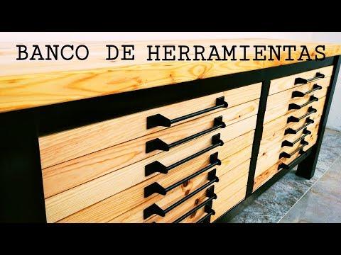 BANCO DE HERRAMIENTAS, ESTILO INDUSTRIAL