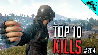 INCREDIBLE FRAGS - Top 10 PlayerUnknown's Battlegrounds Plays - WBCW #204 (PUBG Top 10 Kills)