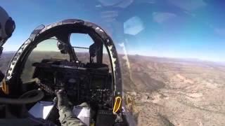 Rare Video of A-10 Thunderbolt II Interior Cockpit View - US Air Force Over Arizona Sky li