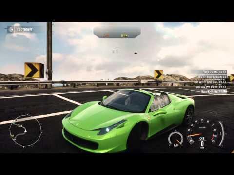 need for speed rivals neon green ferrari 458 spider ps4 hd - Ferrari 458 Spider Green