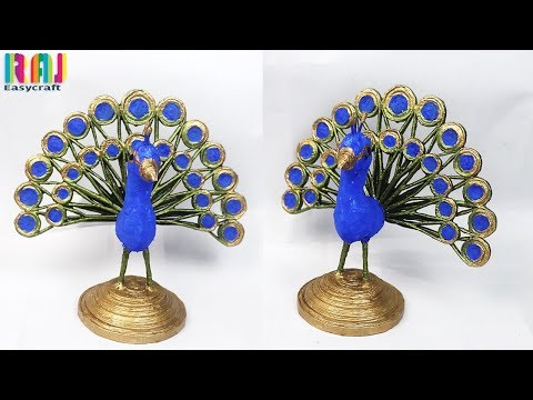 Best use of waste newspaper || newspaper peacock making at home || waste material art and craft