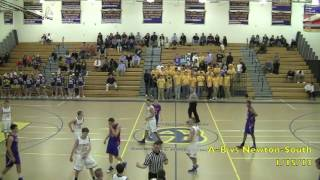 Acton Boxborough Varsity Boys Basketball vs Newton South 1/13/13