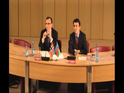 "Espen Barth Eide (MFA of Norway) ""Norway's Experiences: Are They Relevant To Azerbaijan?"""