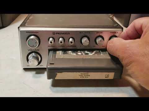 Vintage Pioneer TP-727 Car 8-Track Tape Deck/Player