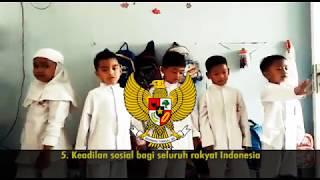 Lucu Banget : Latihan Menghapal Pancasila - Murid TK Casa Cendekia Depok