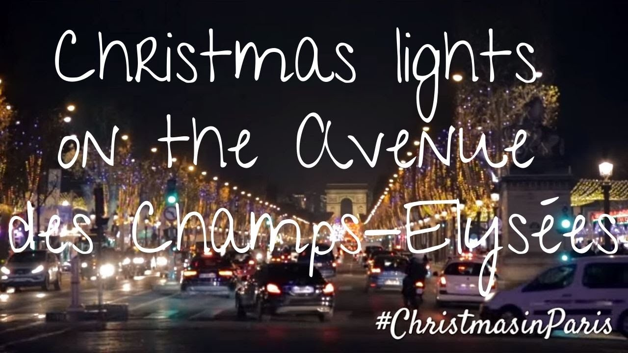 Christmas Lights In Paris.Christmas Lights On The Avenue Des Champs Elysees