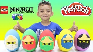 Lego Ninjago Play doh Eggs with Surprise Toys