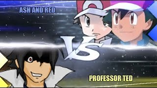 Pokemon Omega Ruby & Alpha Sapphire [ORAS] WiFi Battle: Ash, Red Vs Professor Ted