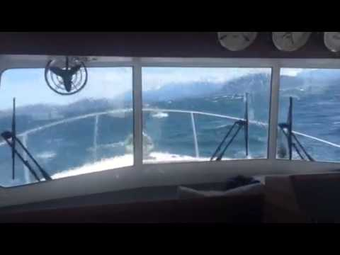 Airship (Nordic Tug 34) in 5 ft wind waves - Lynn Canal, Alaska