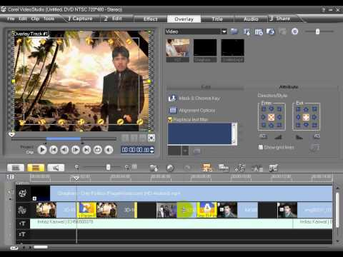 How to add image in video song