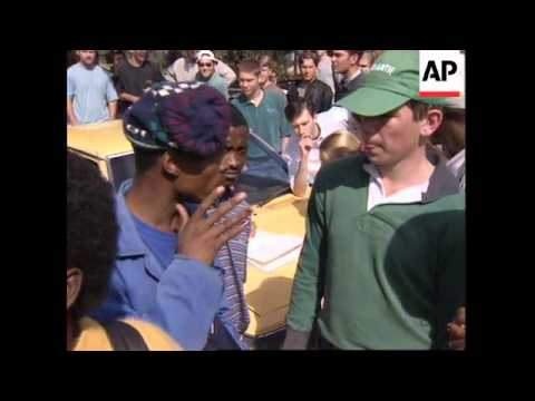 SOUTH AFRICA: PRETORIA: STUDENTS CLASH WITH RIOT POLICE