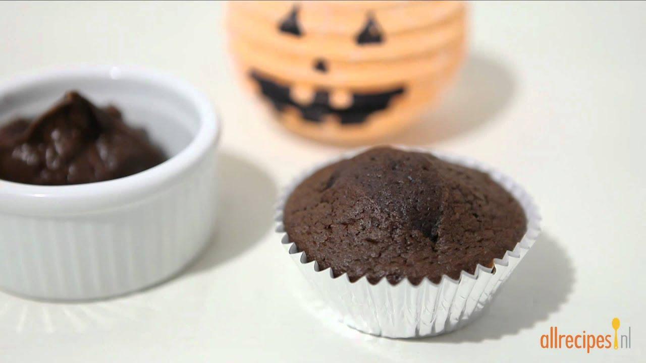 cupcakes versieren voor halloween youtube. Black Bedroom Furniture Sets. Home Design Ideas