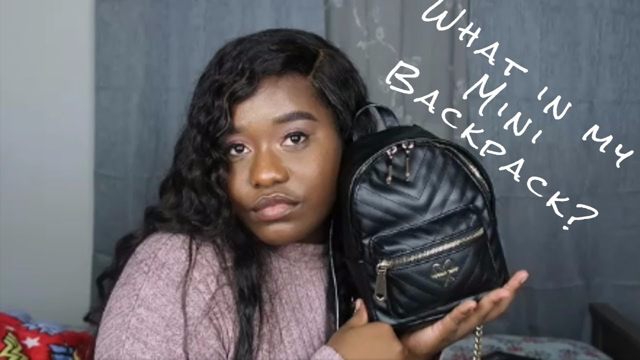 4bae92ed33 What s In My Bag  ft. V-Quilt Mini City Backpack by Victoria Secret ...