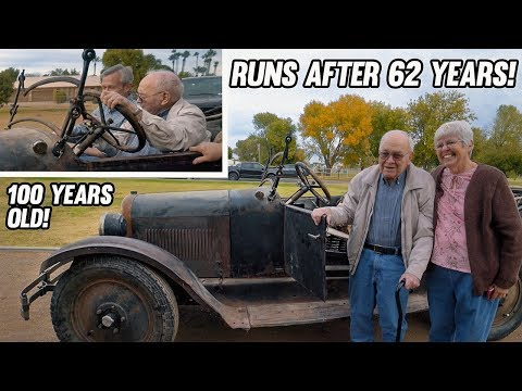 100 Year Old Car Finally Runs Again (His first car when he was 16)