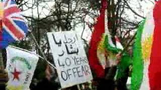 Kurdish demonstration in front of the Syrian Embassy in London  11/03/2011