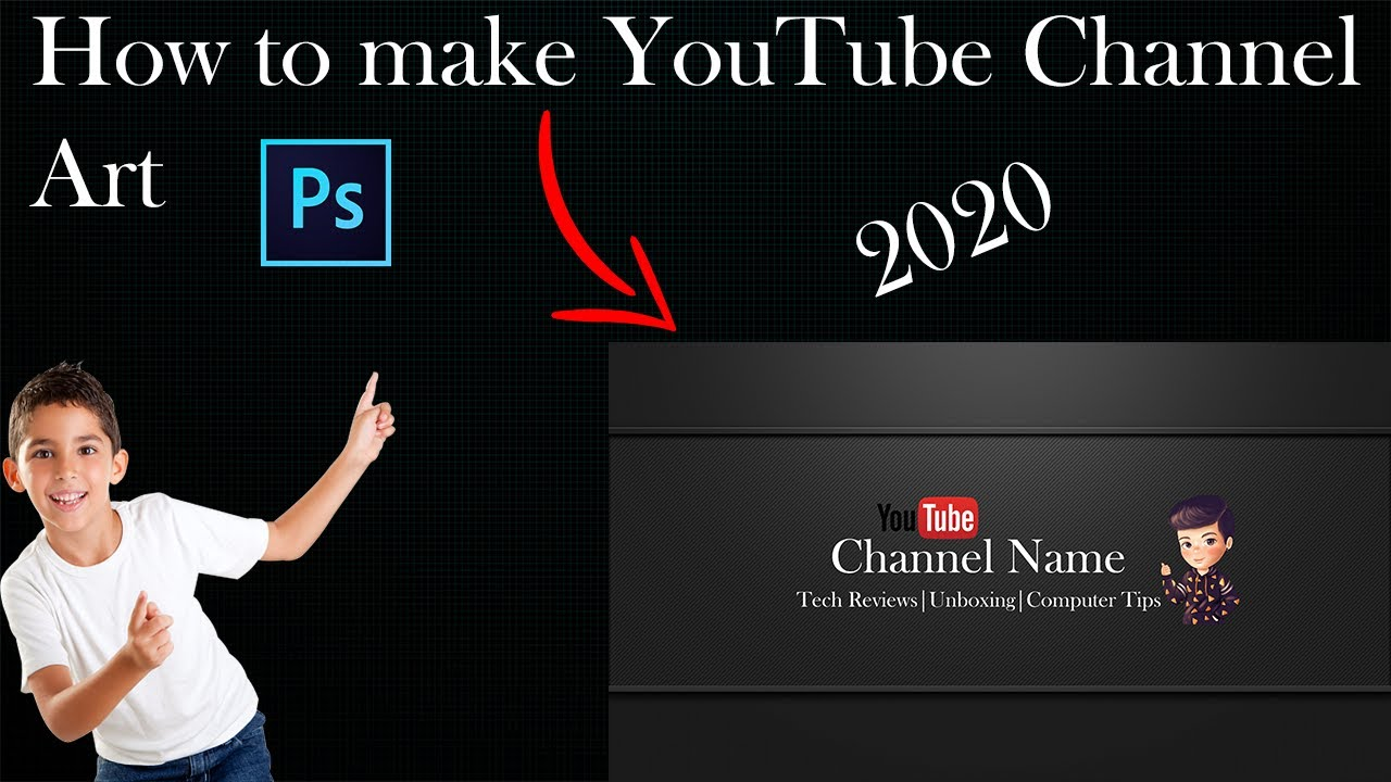 how to make a youtube channel art for free