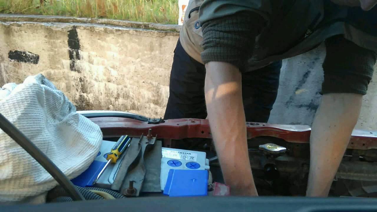 Таймлапс замена трубки радиатора Suzuki liana