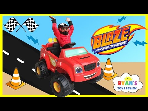 Power Wheels Ride on Car and Truck for Kids 6V Blaze and the Monster Machines Unboxing and Riding