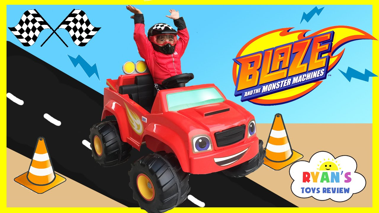 Power Wheels Ride On Car 6v Blaze And The Monster Machines