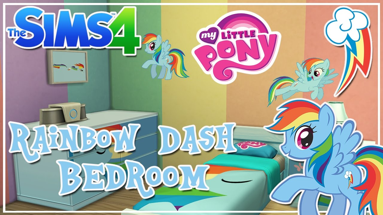 My Little Pony Rainbow Dash Themed Kids Bedroom || The Sims 4 Room ...
