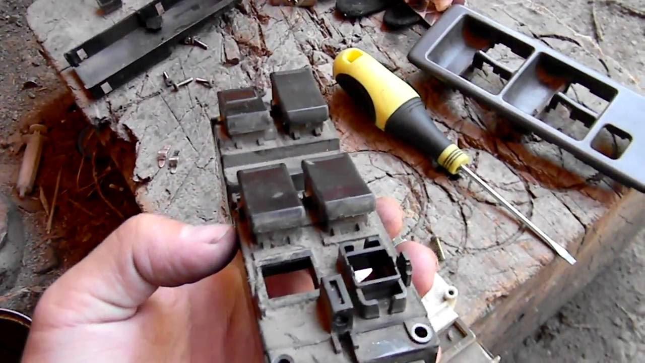 ремонт кнопки стеклоподъемника mazda